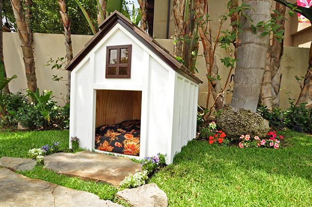 Coastal cottage designer dog houses for Big modern dog house